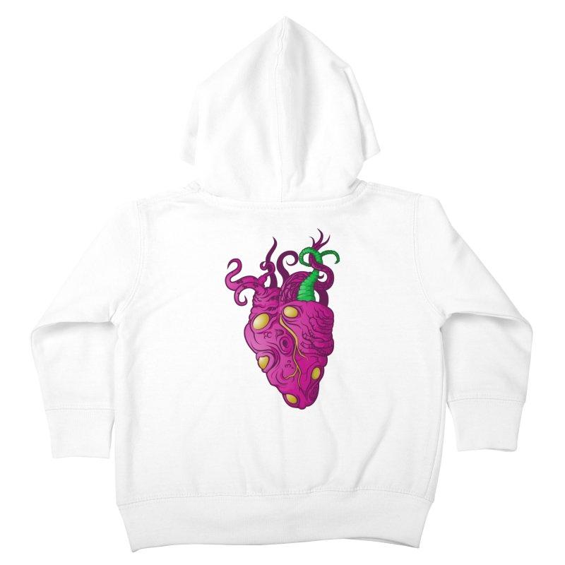 Cthulhu heart Kids Toddler Zip-Up Hoody by juliusllopis's Artist Shop