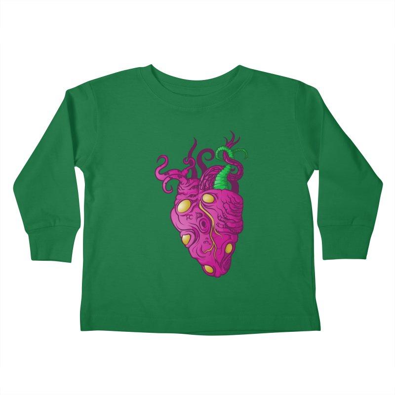 Cthulhu heart Kids Toddler Longsleeve T-Shirt by juliusllopis's Artist Shop