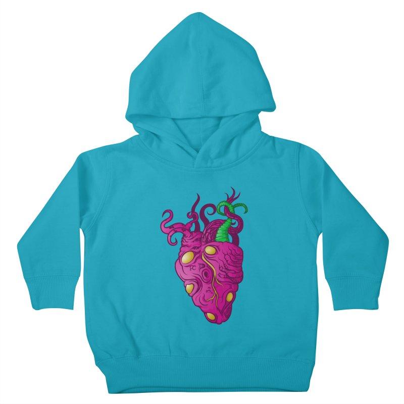 Cthulhu heart Kids Toddler Pullover Hoody by juliusllopis's Artist Shop
