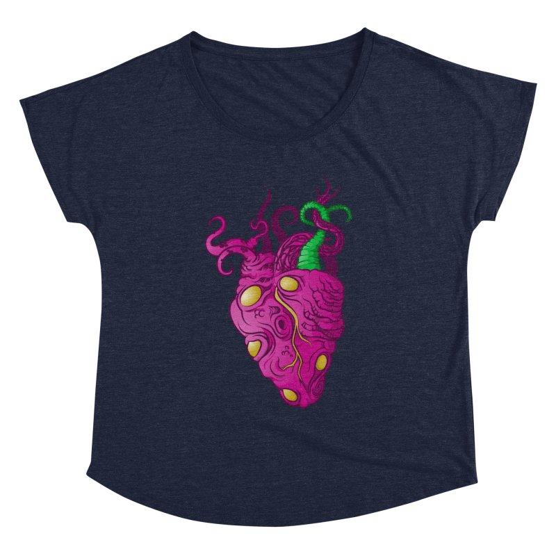 Cthulhu heart Women's Dolman Scoop Neck by juliusllopis's Artist Shop