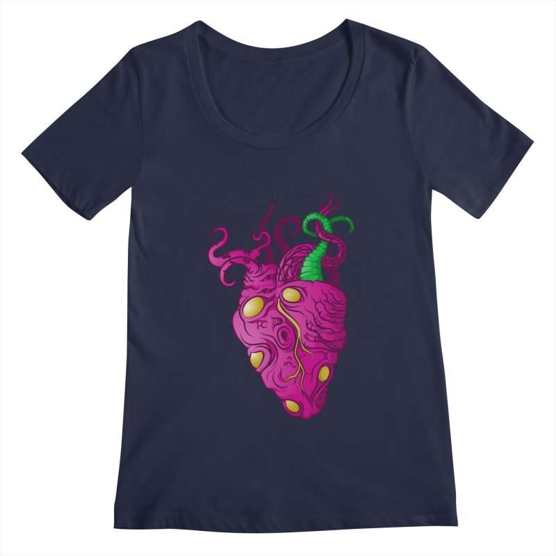 Cthulhu heart Women's Scoopneck by juliusllopis's Artist Shop