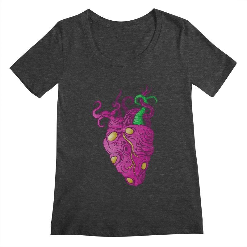 Cthulhu heart Women's Scoopneck by juliusllopis's Artist Shop