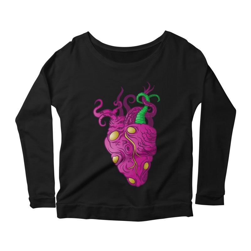 Cthulhu heart Women's Longsleeve Scoopneck  by juliusllopis's Artist Shop