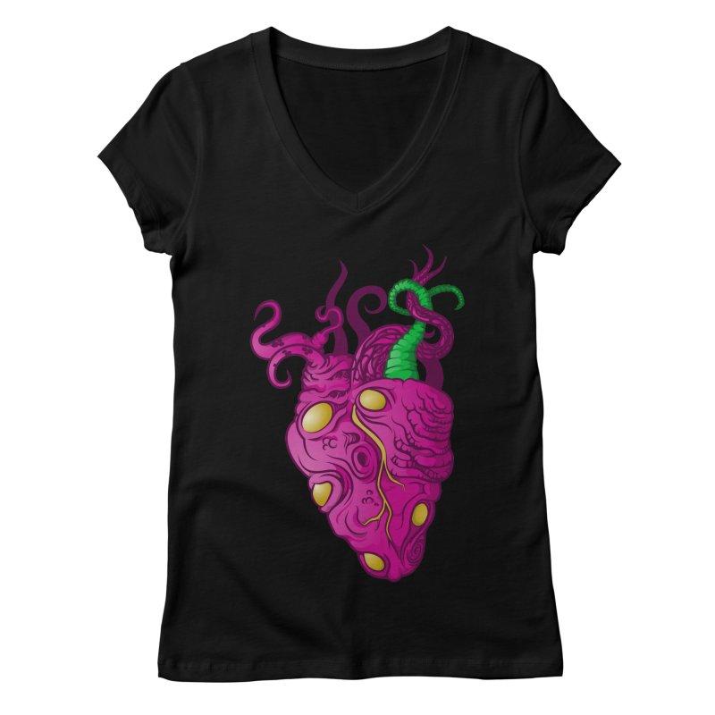 Cthulhu heart Women's Regular V-Neck by juliusllopis's Artist Shop