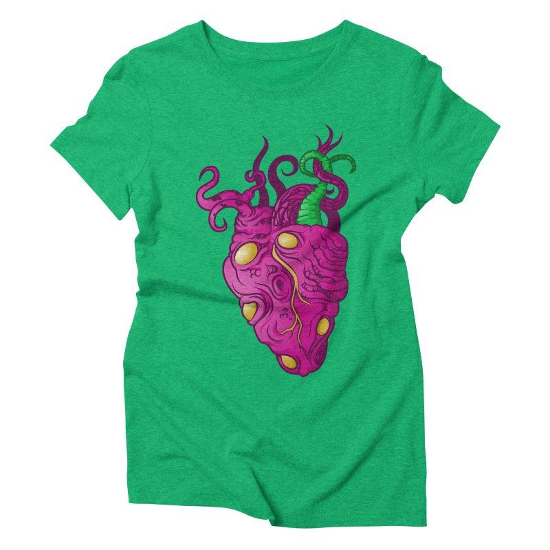 Cthulhu heart Women's Triblend T-shirt by juliusllopis's Artist Shop