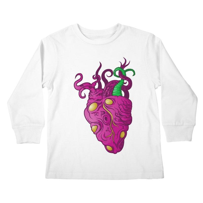 Cthulhu heart Kids Longsleeve T-Shirt by juliusllopis's Artist Shop