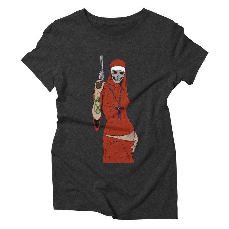 Skull nun Women's Triblend T-shirt by juliusllopis's Artist Shop