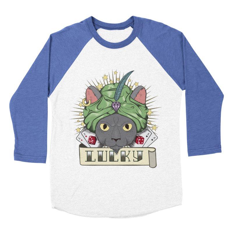 Lucky cat Women's Baseball Triblend T-Shirt by juliusllopis's Artist Shop
