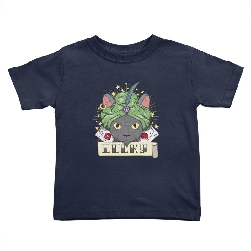 Lucky cat Kids Toddler T-Shirt by juliusllopis's Artist Shop