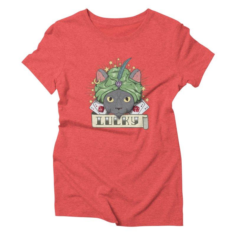 Lucky cat Women's Triblend T-shirt by juliusllopis's Artist Shop