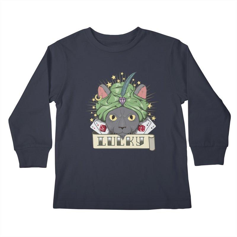 Lucky cat Kids Longsleeve T-Shirt by juliusllopis's Artist Shop
