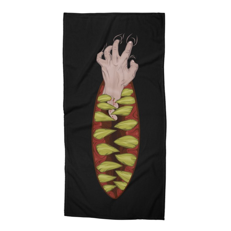 Hungry terror Accessories Beach Towel by juliusllopis's Artist Shop