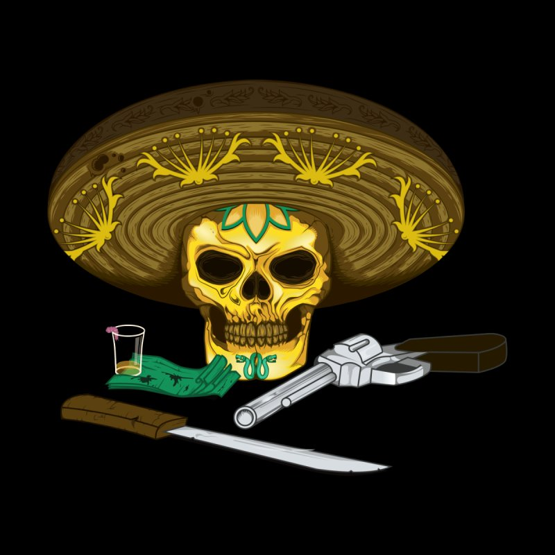 Mexican skull Men's T-Shirt by juliusllopis's Artist Shop