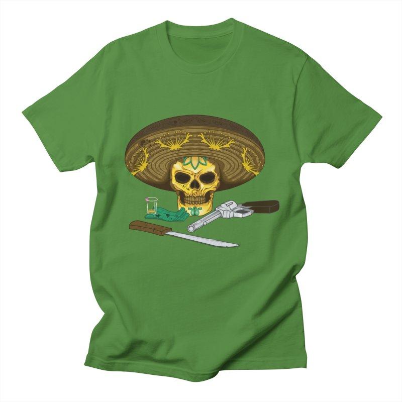 Mexican skull Men's T-shirt by juliusllopis's Artist Shop
