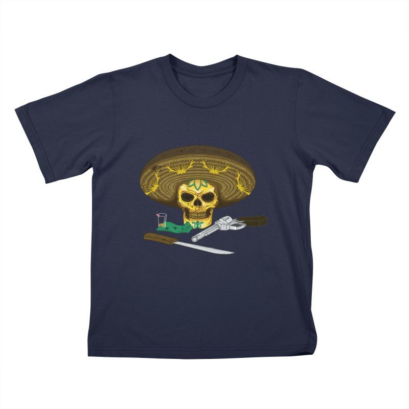 Mexican skull Kids Toddler T-Shirt by juliusllopis's Artist Shop