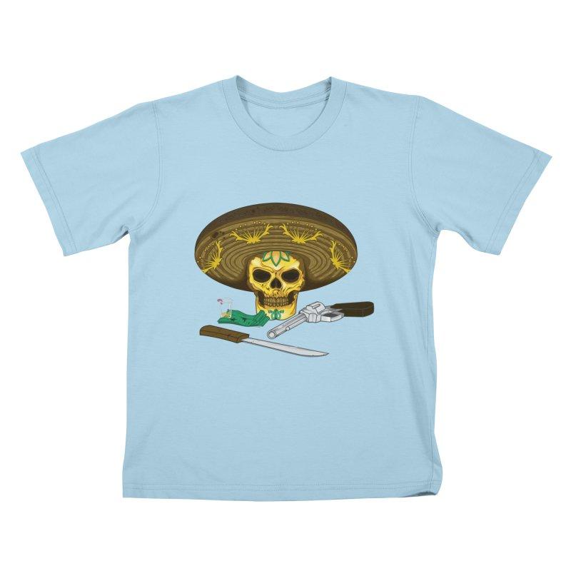 Mexican skull Kids T-shirt by juliusllopis's Artist Shop