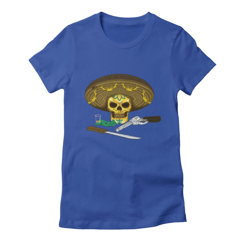 Mexican skull Women's Fitted T-Shirt by juliusllopis's Artist Shop