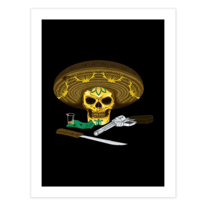 Mexican skull Home Fine Art Print by juliusllopis's Artist Shop