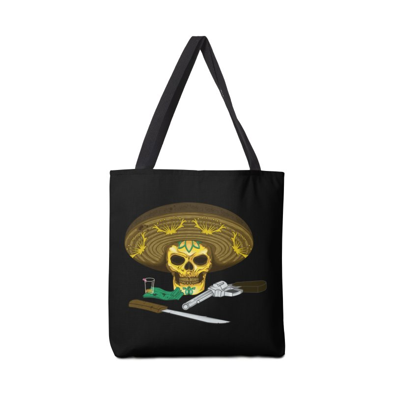 Mexican skull Accessories Bag by juliusllopis's Artist Shop