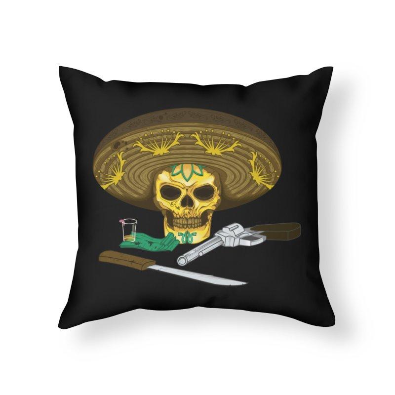 Mexican skull Home Throw Pillow by juliusllopis's Artist Shop