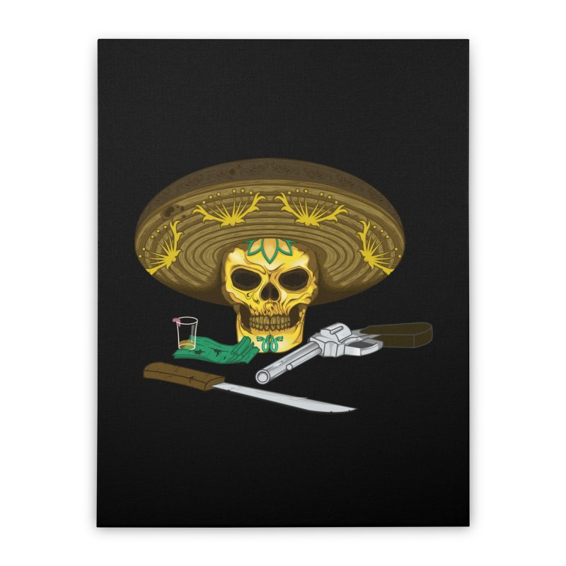 Mexican skull Home Stretched Canvas by juliusllopis's Artist Shop