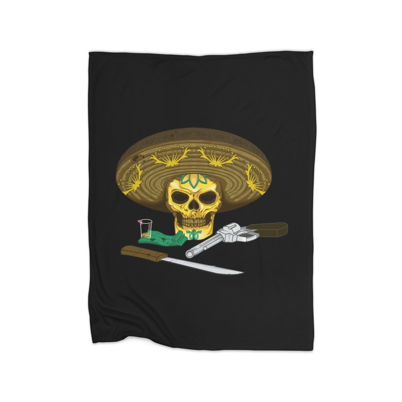 Mexican skull Home Blanket by juliusllopis's Artist Shop