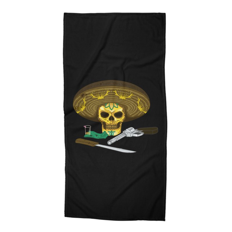 Mexican skull Accessories Beach Towel by juliusllopis's Artist Shop