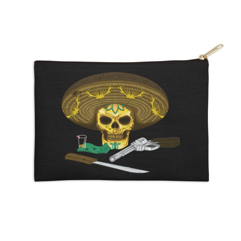 Mexican skull Accessories Zip Pouch by juliusllopis's Artist Shop