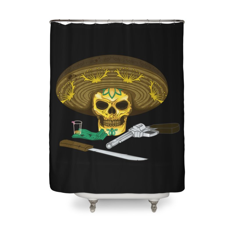 Mexican skull Home Shower Curtain by juliusllopis's Artist Shop