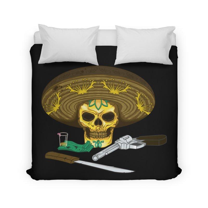 Mexican skull Home Duvet by juliusllopis's Artist Shop
