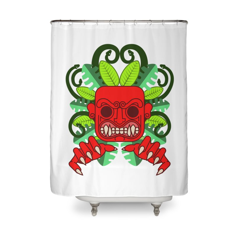 Ai Apaec Home Shower Curtain by juliusllopis's Artist Shop