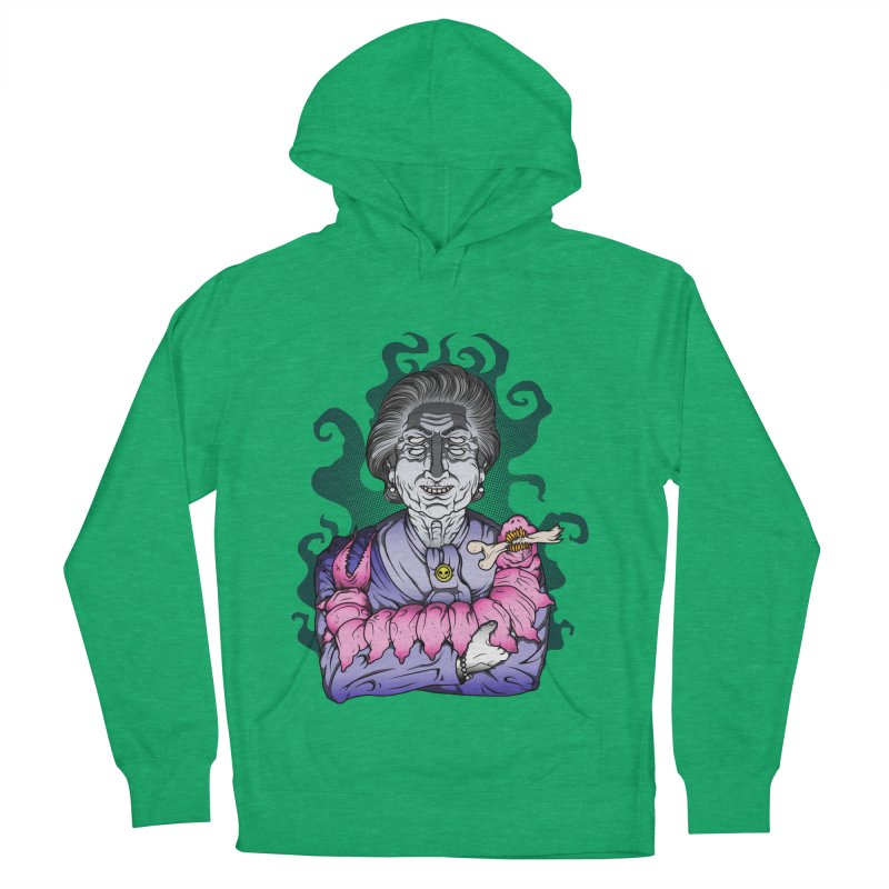Old lady and her pet Men's French Terry Pullover Hoody by juliusllopis's Artist Shop