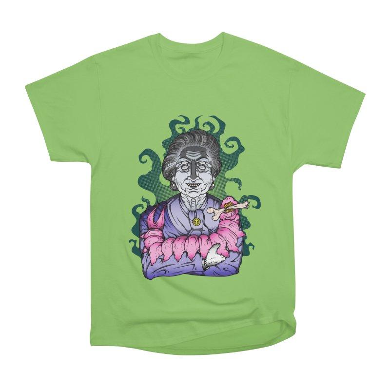 Old lady and her pet Women's Heavyweight Unisex T-Shirt by juliusllopis's Artist Shop