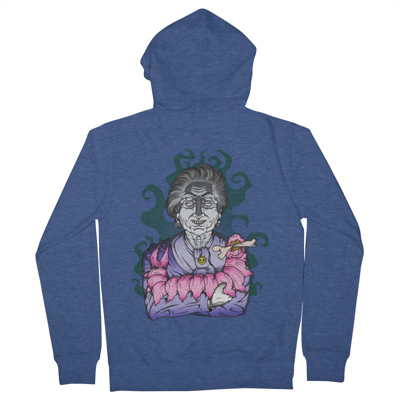 Old lady and her pet Women's French Terry Zip-Up Hoody by juliusllopis's Artist Shop