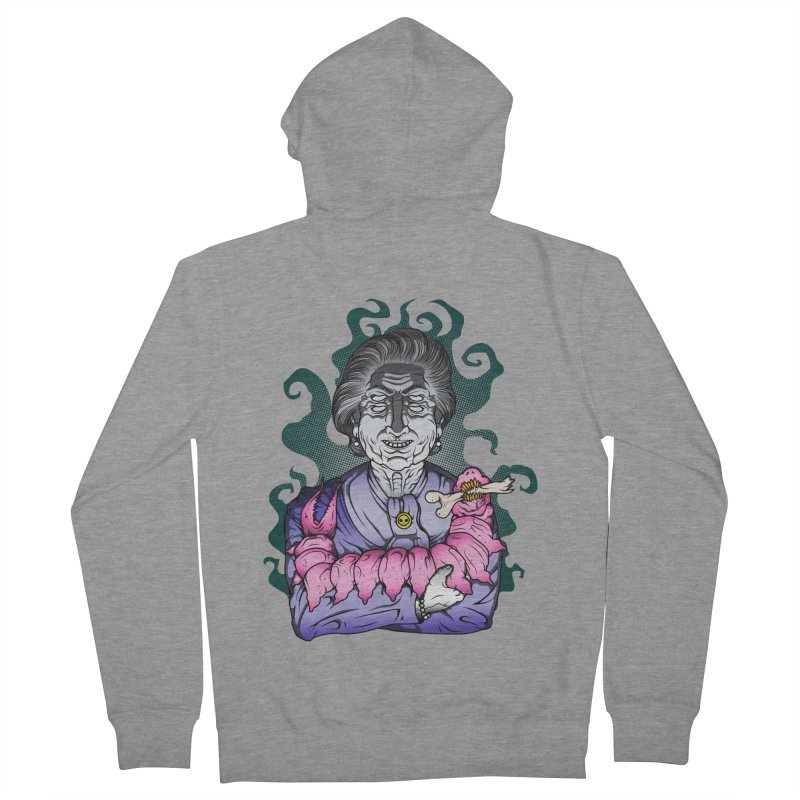 Old lady and her pet Men's French Terry Zip-Up Hoody by juliusllopis's Artist Shop