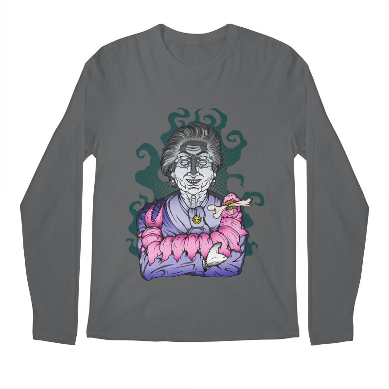 Old lady and her pet Men's Regular Longsleeve T-Shirt by juliusllopis's Artist Shop