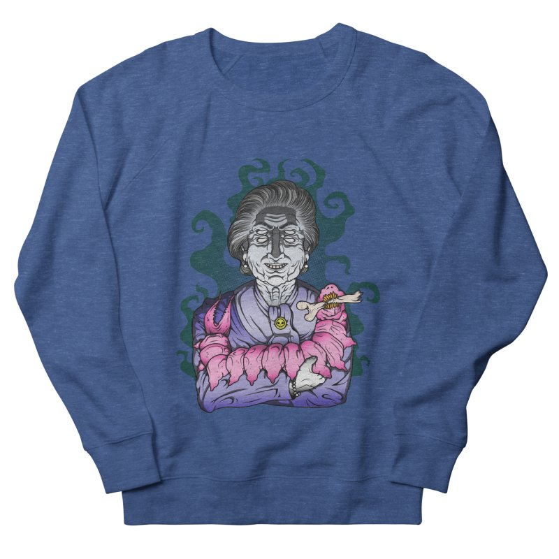 Old lady and her pet Men's French Terry Sweatshirt by juliusllopis's Artist Shop