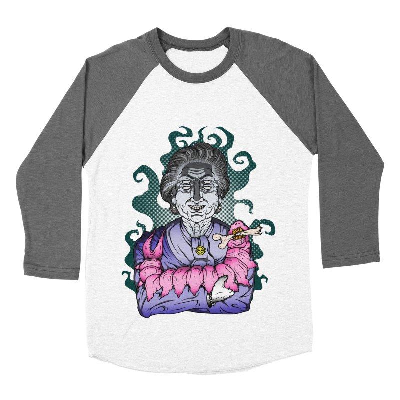 Old lady and her pet Men's Baseball Triblend Longsleeve T-Shirt by juliusllopis's Artist Shop