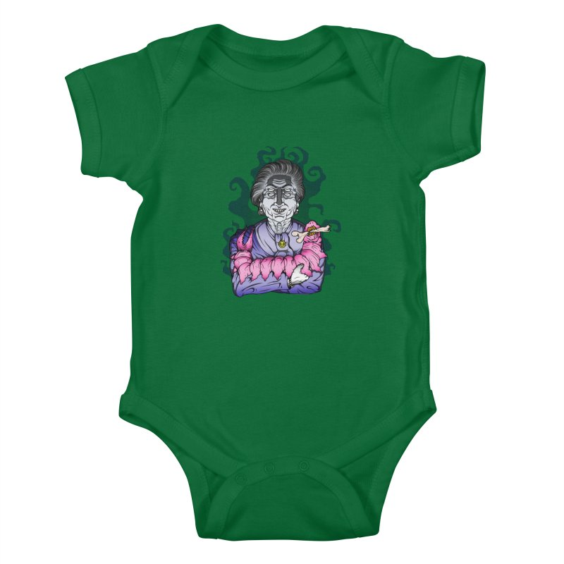 Old lady and her pet Kids Baby Bodysuit by juliusllopis's Artist Shop