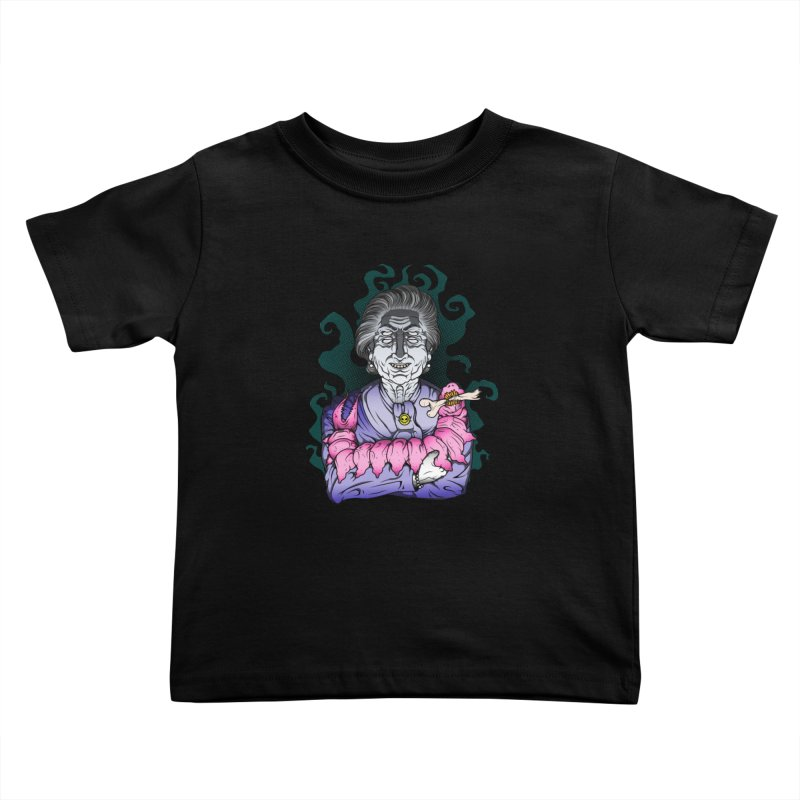 Old lady and her pet Kids Toddler T-Shirt by juliusllopis's Artist Shop