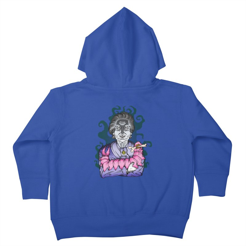 Old lady and her pet Kids Toddler Zip-Up Hoody by juliusllopis's Artist Shop