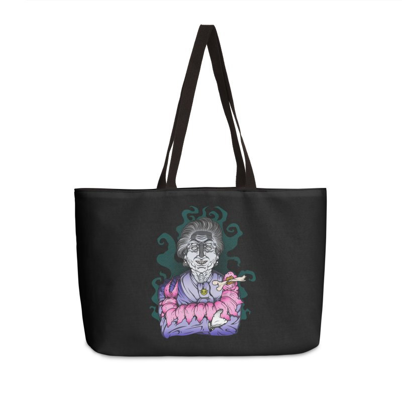 Old lady and her pet Accessories Weekender Bag Bag by juliusllopis's Artist Shop