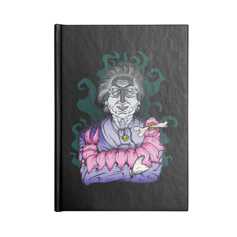 Old lady and her pet Accessories Notebook by juliusllopis's Artist Shop