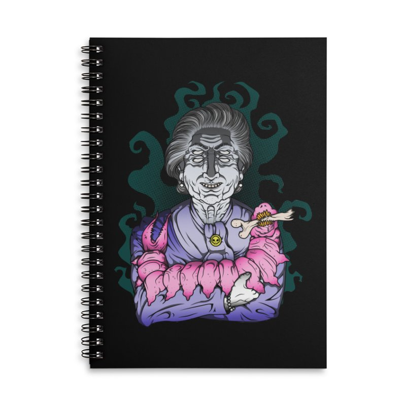 Old lady and her pet Accessories Lined Spiral Notebook by juliusllopis's Artist Shop