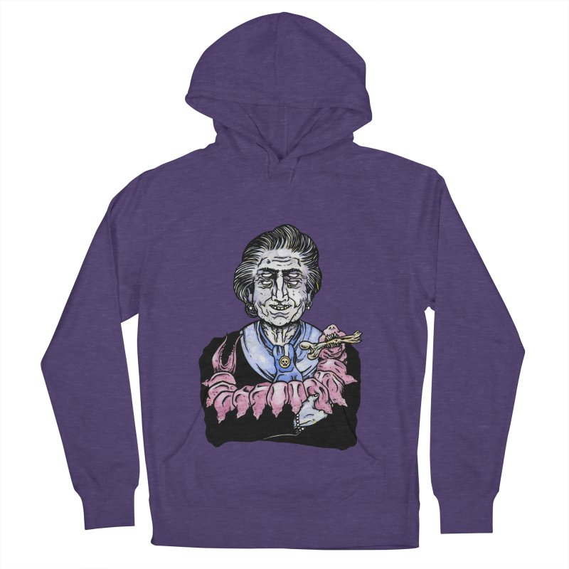 Old lady and her pet Women's Pullover Hoody by juliusllopis's Artist Shop
