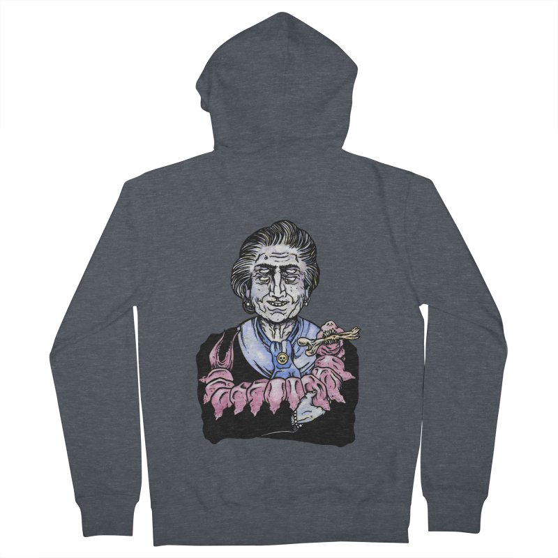 Old lady and her pet Women's Zip-Up Hoody by juliusllopis's Artist Shop