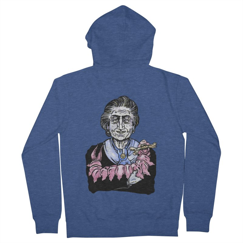 Old lady and her pet Men's Zip-Up Hoody by juliusllopis's Artist Shop
