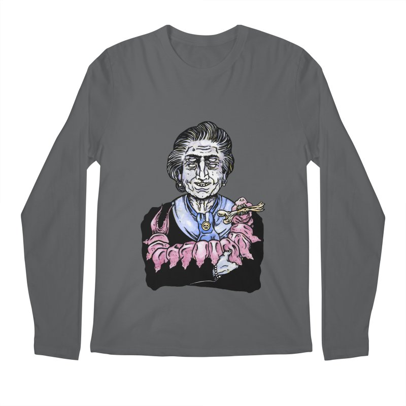 Old lady and her pet Men's Longsleeve T-Shirt by juliusllopis's Artist Shop