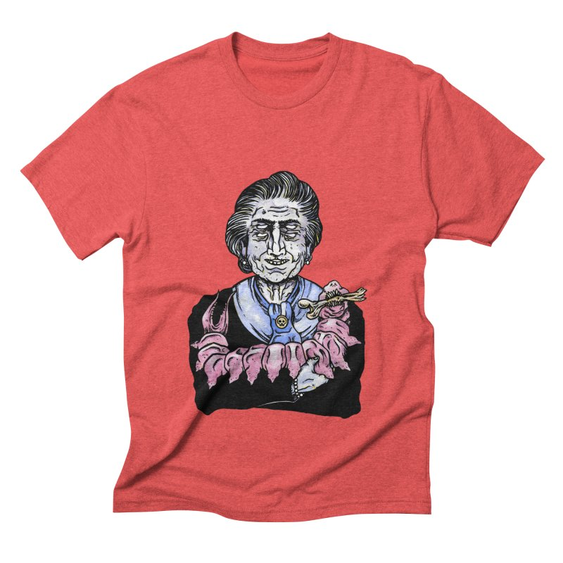 Old lady and her pet Men's Triblend T-shirt by juliusllopis's Artist Shop