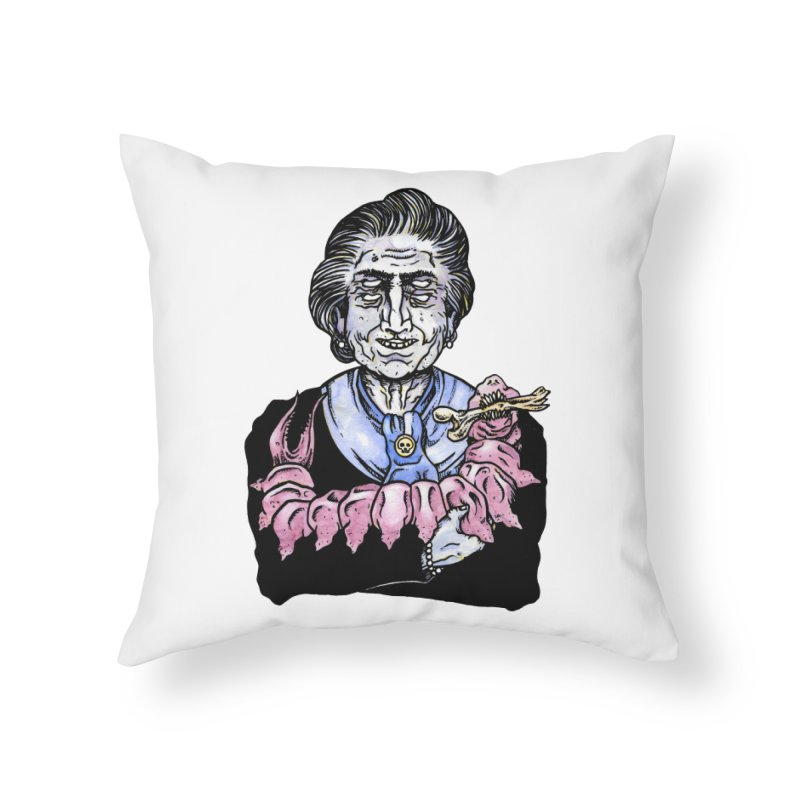 Old lady and her pet Home Throw Pillow by juliusllopis's Artist Shop